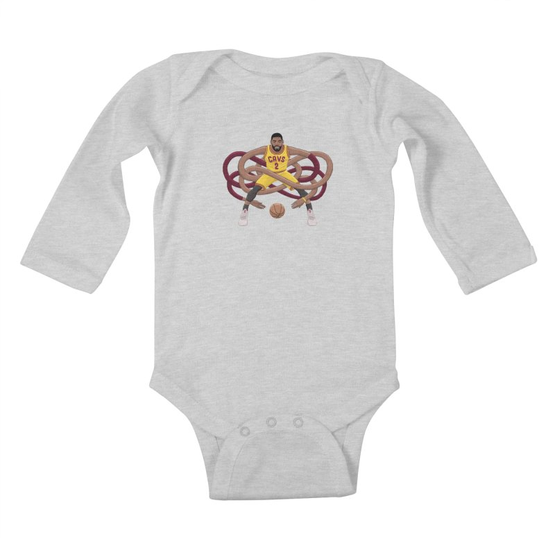 Gnarly Kyrie Kids Baby Longsleeve Bodysuit by dukenny's Artist Shop