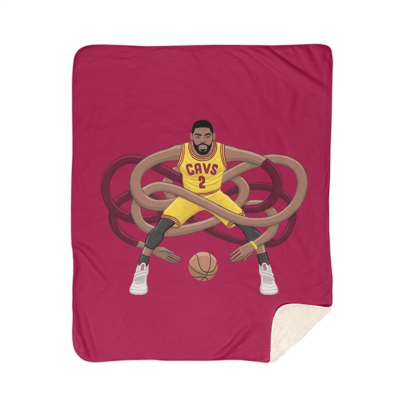 Gnarly Kyrie Home Sherpa Blanket Blanket by dukenny's Artist Shop