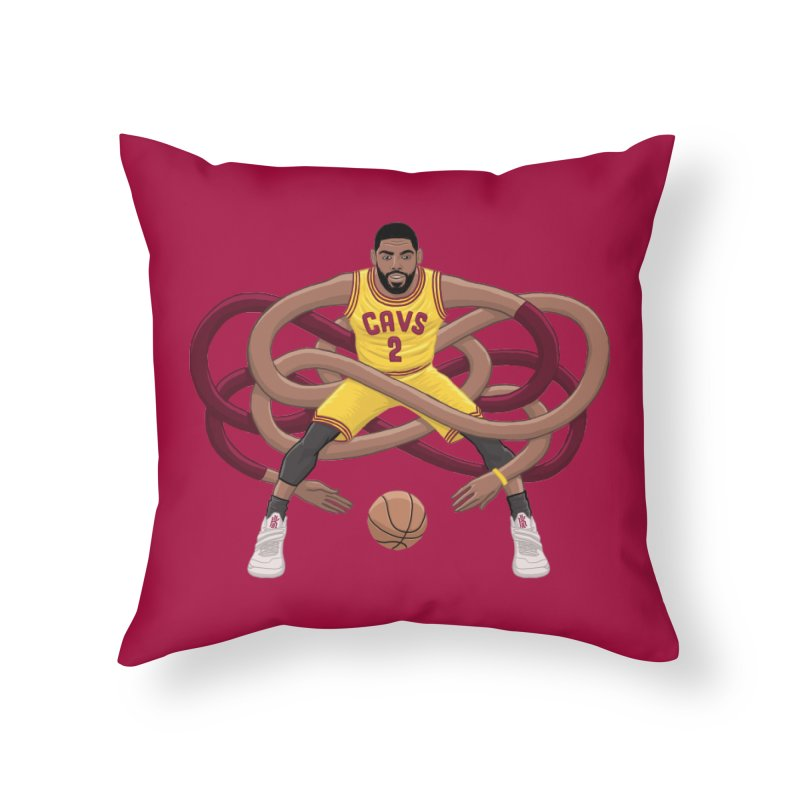 Gnarly Kyrie Home Throw Pillow by dukenny's Artist Shop