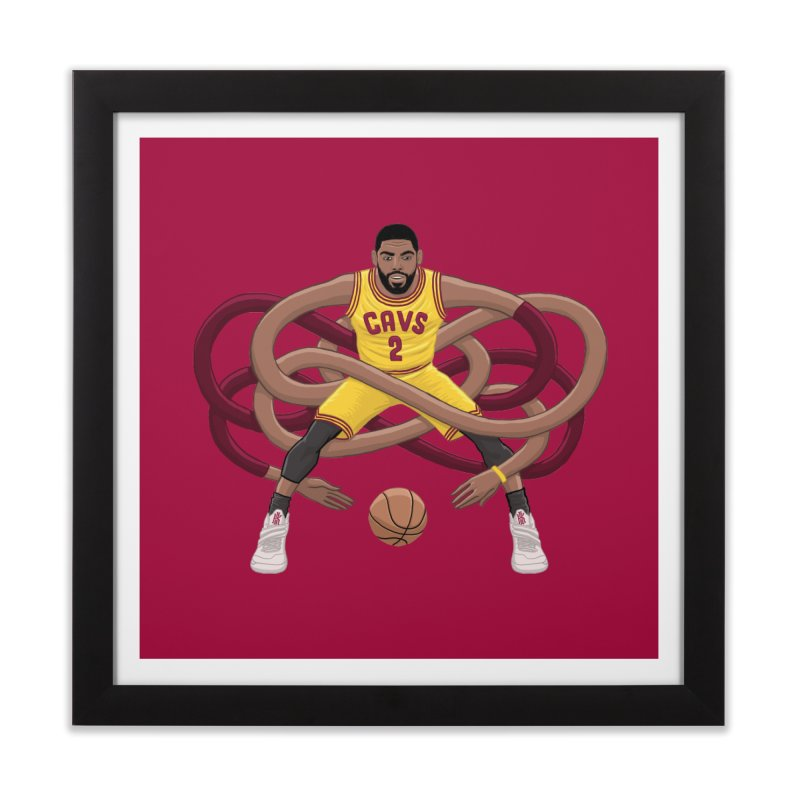 Gnarly Kyrie in Framed Fine Art Print Black by dukenny's Artist Shop