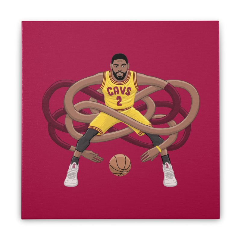Gnarly Kyrie Home Stretched Canvas by dukenny's Artist Shop