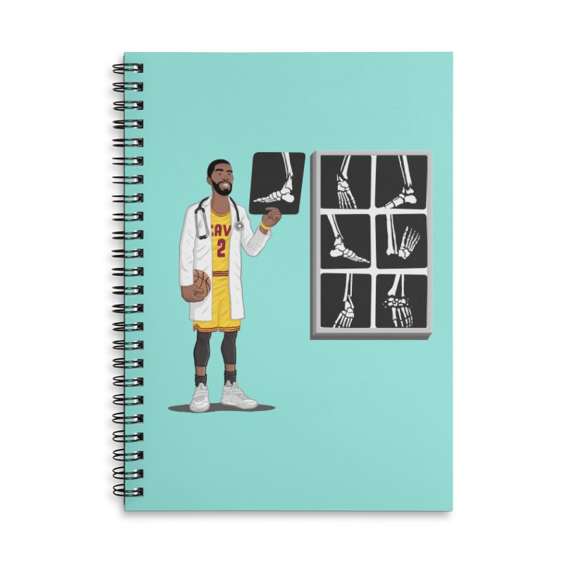 Doc AnkleBreaker Accessories Lined Spiral Notebook by dukenny's Artist Shop