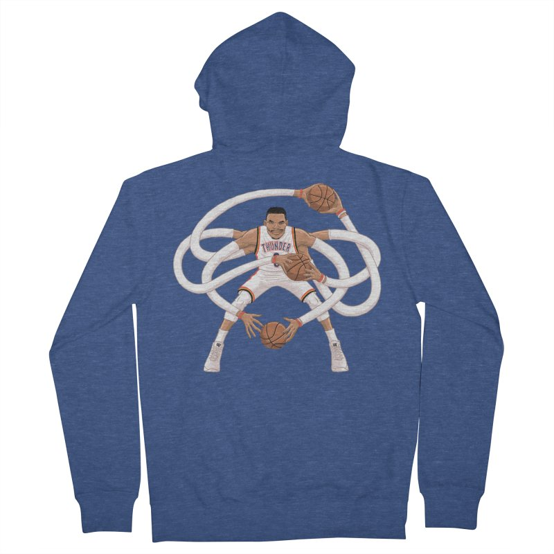 "Russell ""Mr. Triple Double"" Westbrook - Home kit Men's Zip-Up Hoody by dukenny's Artist Shop"