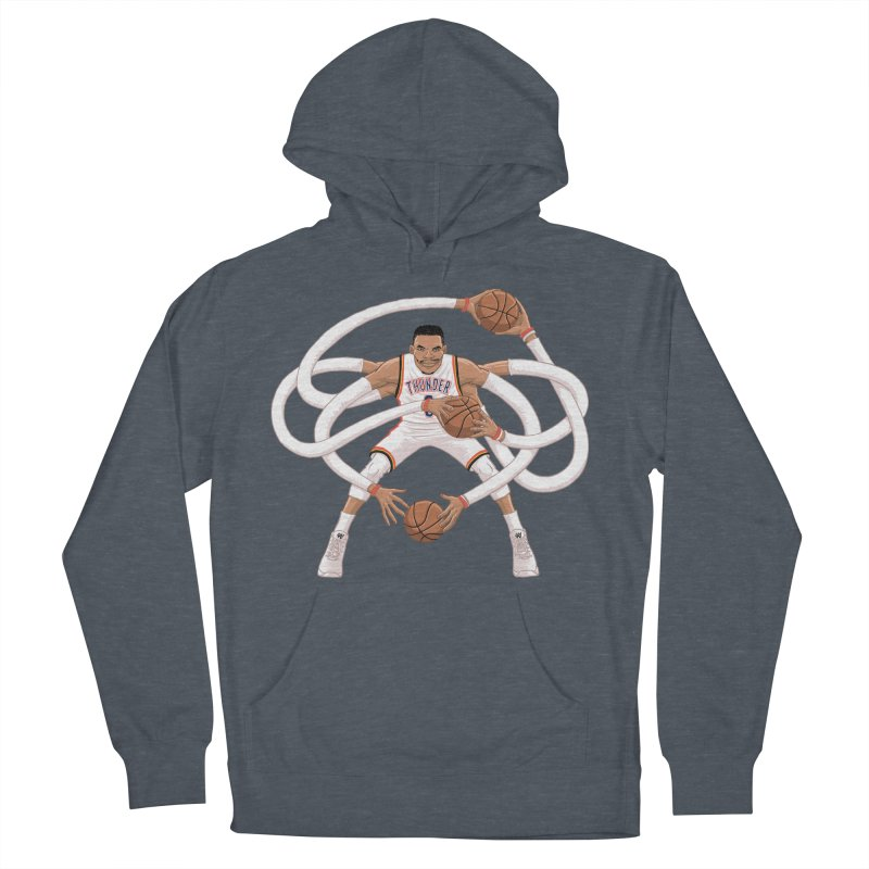 """Russell """"Mr. Triple Double"""" Westbrook - Home kit Men's Pullover Hoody by dukenny's Artist Shop"""
