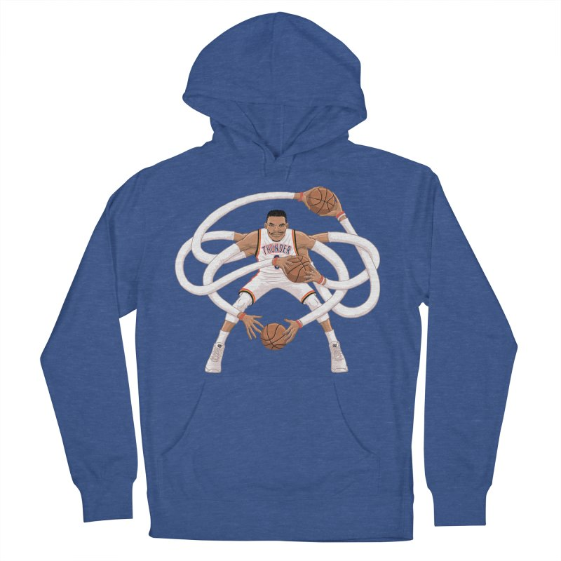"""Russell """"Mr. Triple Double"""" Westbrook - Home kit Men's French Terry Pullover Hoody by dukenny's Artist Shop"""