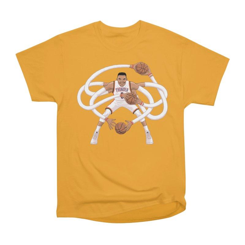 "Russell ""Mr. Triple Double"" Westbrook - Home kit Men's Heavyweight T-Shirt by dukenny's Artist Shop"