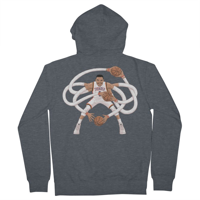 """Russell """"Mr. Triple Double"""" Westbrook - Home kit Women's French Terry Zip-Up Hoody by dukenny's Artist Shop"""