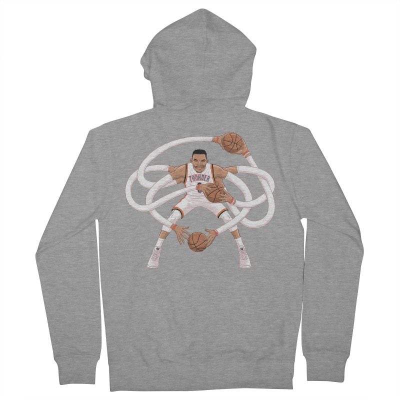 "Russell ""Mr. Triple Double"" Westbrook - Home kit Women's French Terry Zip-Up Hoody by dukenny's Artist Shop"