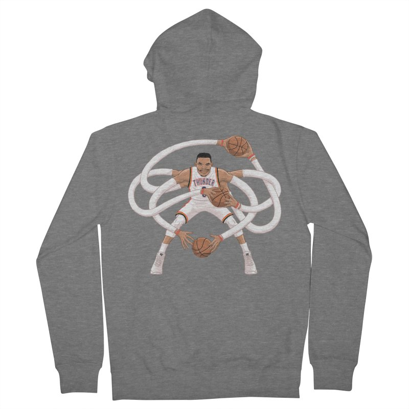 """Russell """"Mr. Triple Double"""" Westbrook - Home kit Men's French Terry Zip-Up Hoody by dukenny's Artist Shop"""