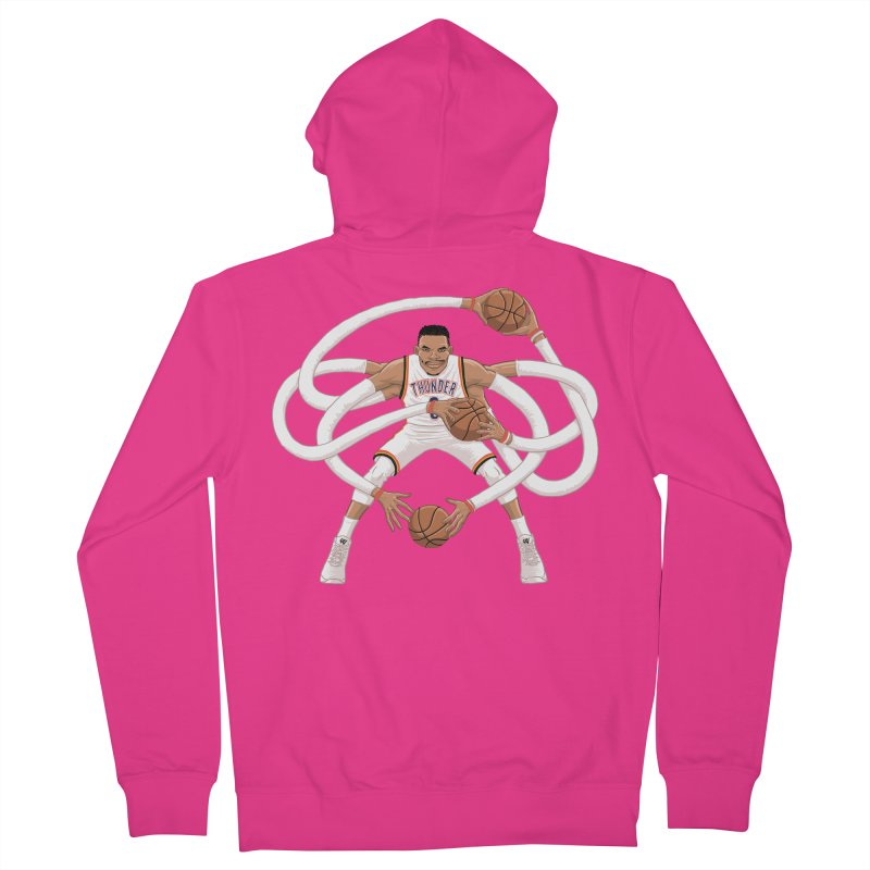 "Russell ""Mr. Triple Double"" Westbrook - Home kit Men's French Terry Zip-Up Hoody by dukenny's Artist Shop"