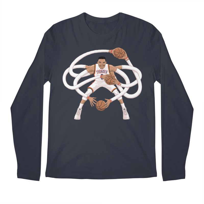 """Russell """"Mr. Triple Double"""" Westbrook - Home kit Men's Longsleeve T-Shirt by dukenny's Artist Shop"""