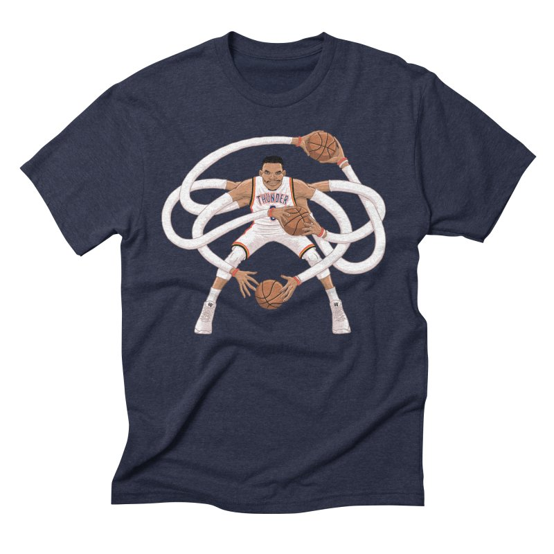 "Russell ""Mr. Triple Double"" Westbrook - Home kit Men's Triblend T-Shirt by dukenny's Artist Shop"