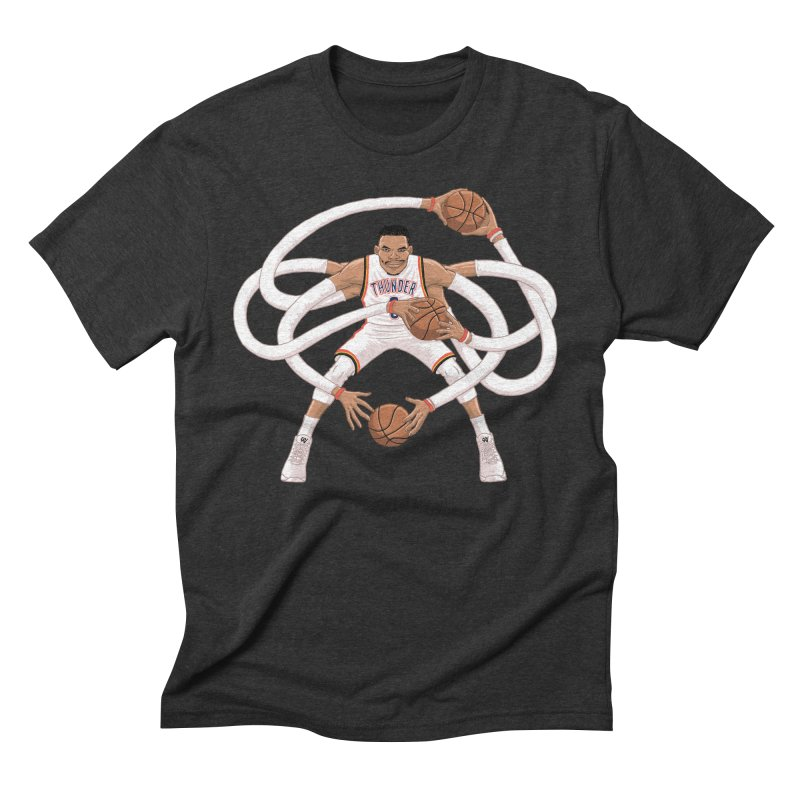 """Russell """"Mr. Triple Double"""" Westbrook - Home kit Men's Triblend T-Shirt by dukenny's Artist Shop"""