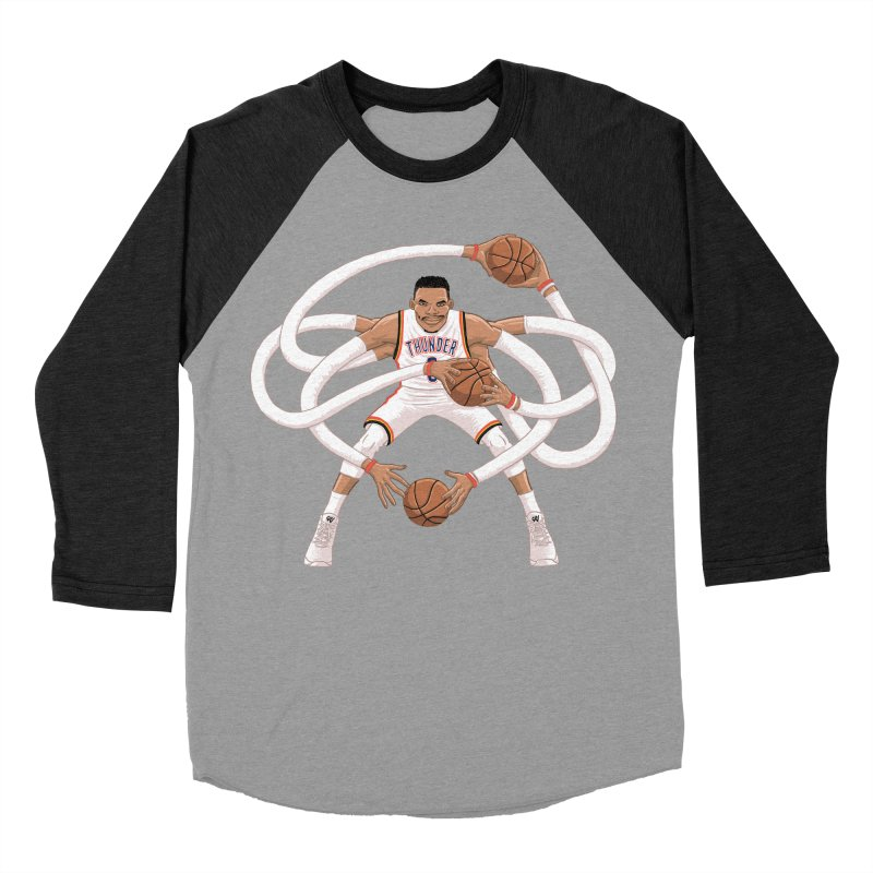 "Russell ""Mr. Triple Double"" Westbrook - Home kit Women's Baseball Triblend Longsleeve T-Shirt by dukenny's Artist Shop"