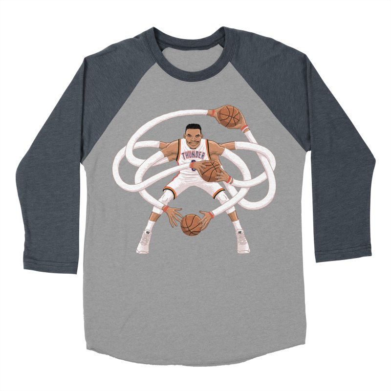 "Russell ""Mr. Triple Double"" Westbrook - Home kit Women's Baseball Triblend Longsleeve T-Shirt by dukenny's Artist Shop"