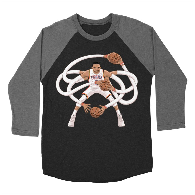 "Russell ""Mr. Triple Double"" Westbrook - Home kit Men's Baseball Triblend Longsleeve T-Shirt by dukenny's Artist Shop"