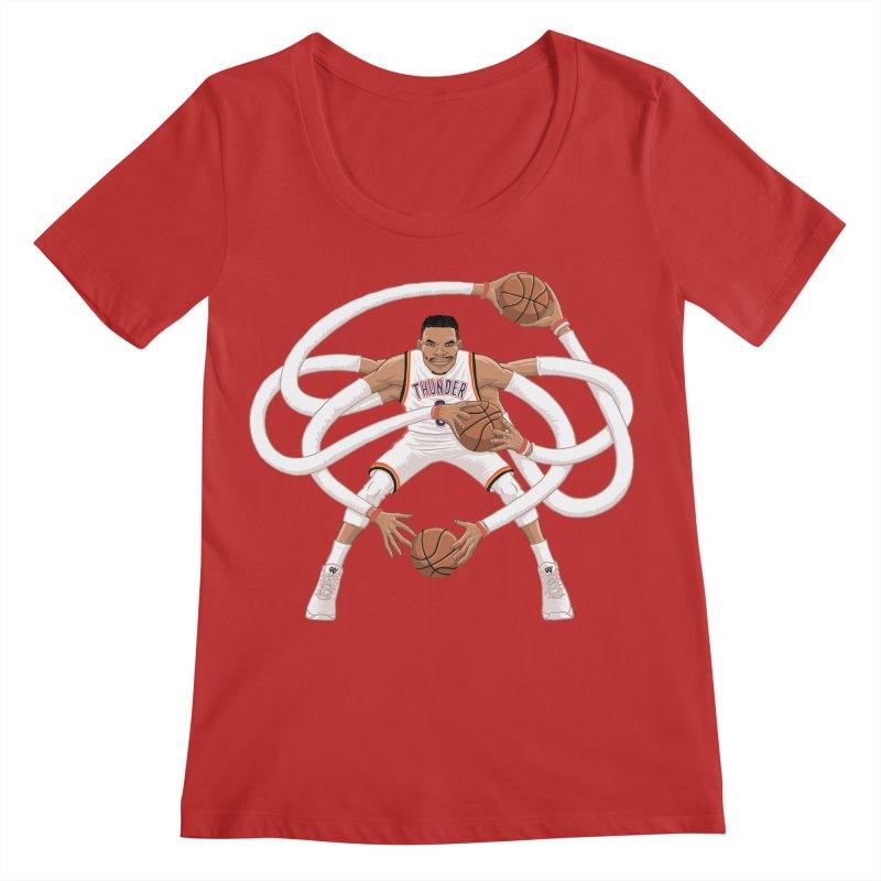 "Russell ""Mr. Triple Double"" Westbrook - Home kit Women's Regular Scoop Neck by dukenny's Artist Shop"