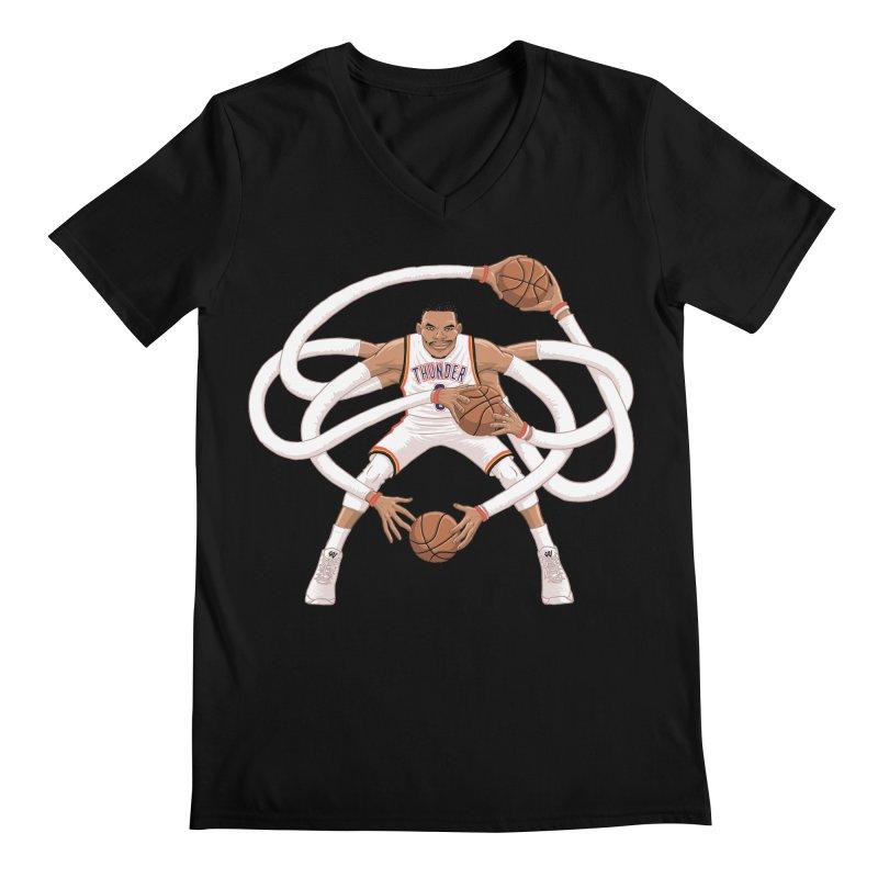 """Russell """"Mr. Triple Double"""" Westbrook - Home kit Men's Regular V-Neck by dukenny's Artist Shop"""