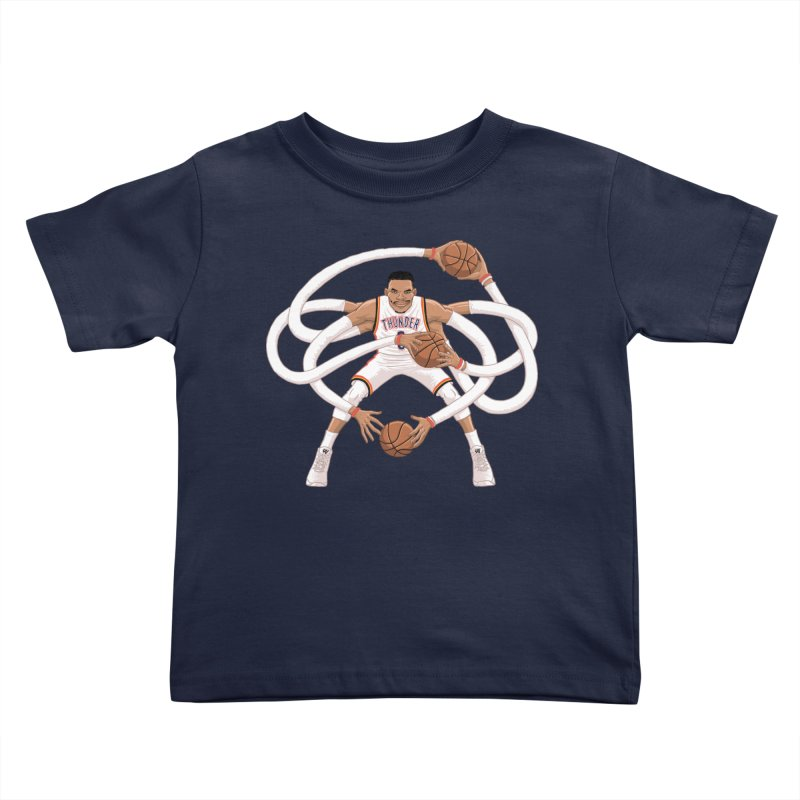 "Russell ""Mr. Triple Double"" Westbrook - Home kit Kids Toddler T-Shirt by dukenny's Artist Shop"