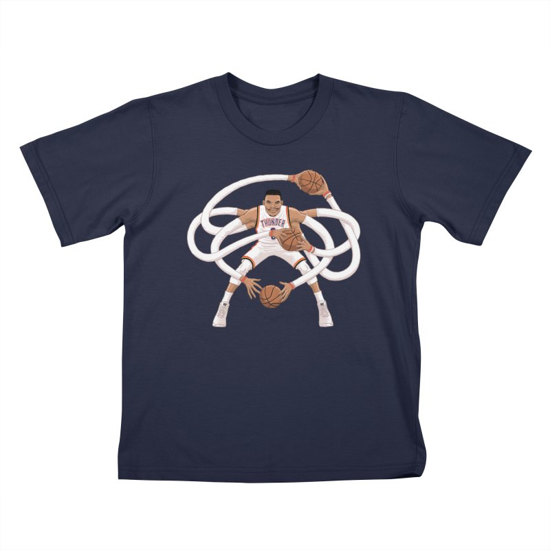 "Russell ""Mr. Triple Double"" Westbrook - Home kit Kids T-Shirt by dukenny's Artist Shop"