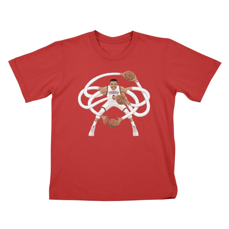 """Russell """"Mr. Triple Double"""" Westbrook - Home kit Kids T-Shirt by dukenny's Artist Shop"""