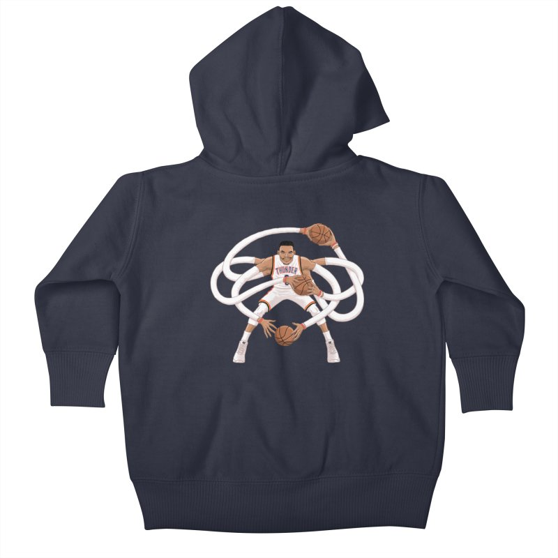 "Russell ""Mr. Triple Double"" Westbrook - Home kit Kids Baby Zip-Up Hoody by dukenny's Artist Shop"