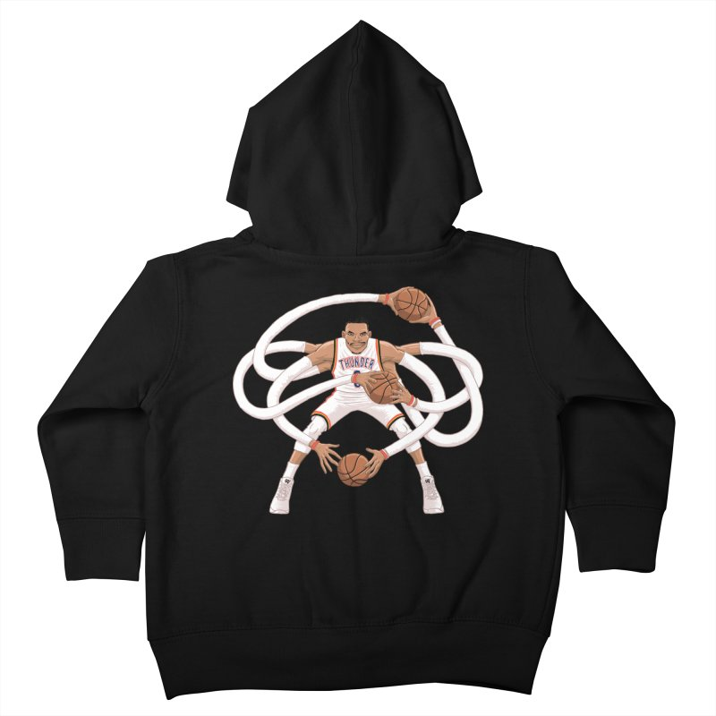 "Russell ""Mr. Triple Double"" Westbrook - Home kit Kids Toddler Zip-Up Hoody by dukenny's Artist Shop"