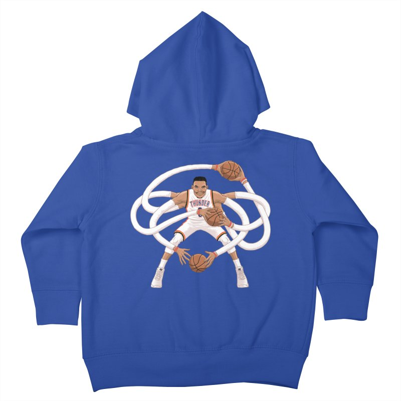 """Russell """"Mr. Triple Double"""" Westbrook - Home kit Kids Toddler Zip-Up Hoody by dukenny's Artist Shop"""