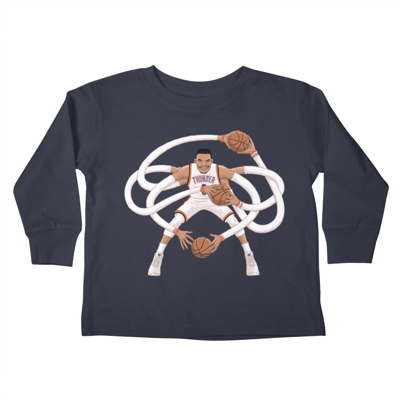 "Russell ""Mr. Triple Double"" Westbrook - Home kit Kids Toddler Longsleeve T-Shirt by dukenny's Artist Shop"