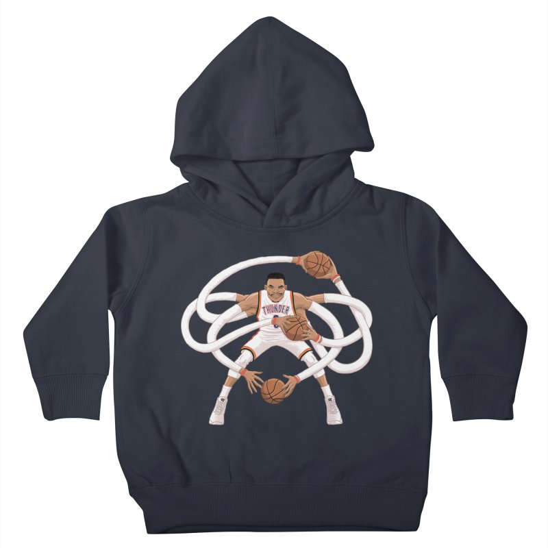 "Russell ""Mr. Triple Double"" Westbrook - Home kit Kids Toddler Pullover Hoody by dukenny's Artist Shop"