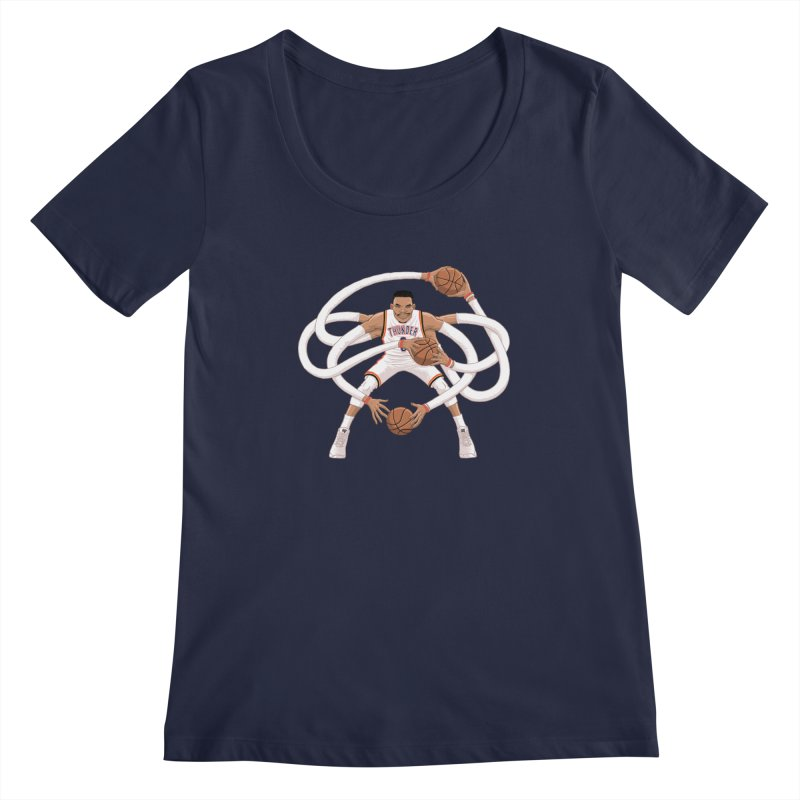 """Russell """"Mr. Triple Double"""" Westbrook - Home kit Women's Scoopneck by dukenny's Artist Shop"""