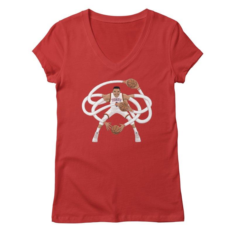 "Russell ""Mr. Triple Double"" Westbrook - Home kit Women's V-Neck by dukenny's Artist Shop"