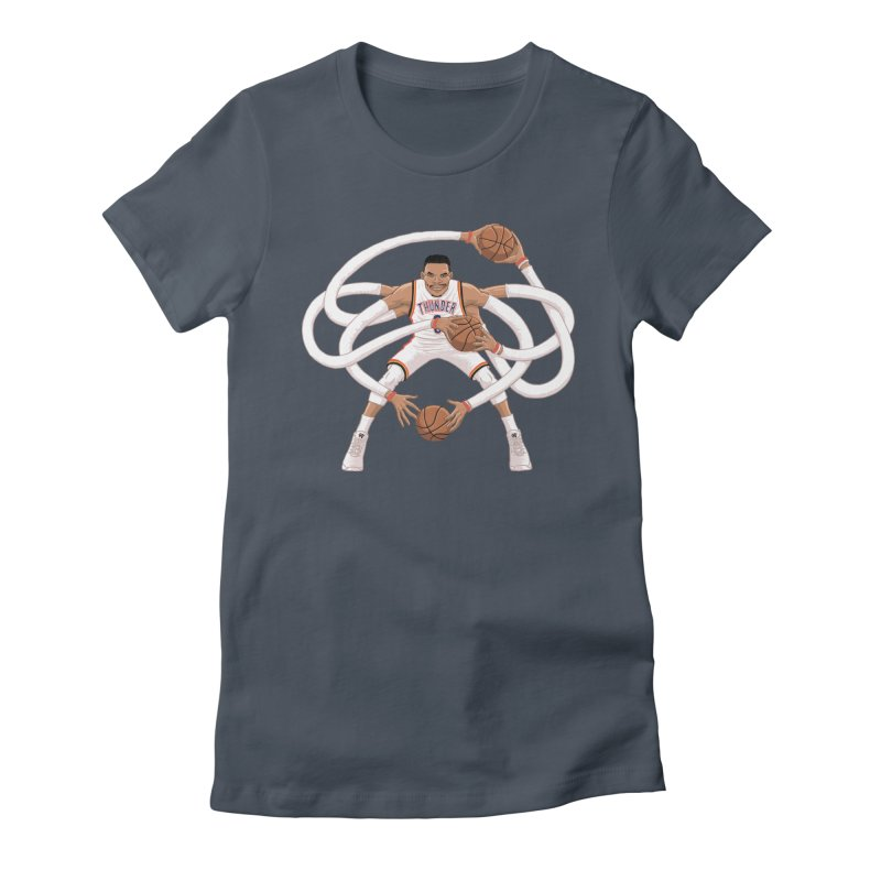 "Russell ""Mr. Triple Double"" Westbrook - Home kit Women's T-Shirt by dukenny's Artist Shop"