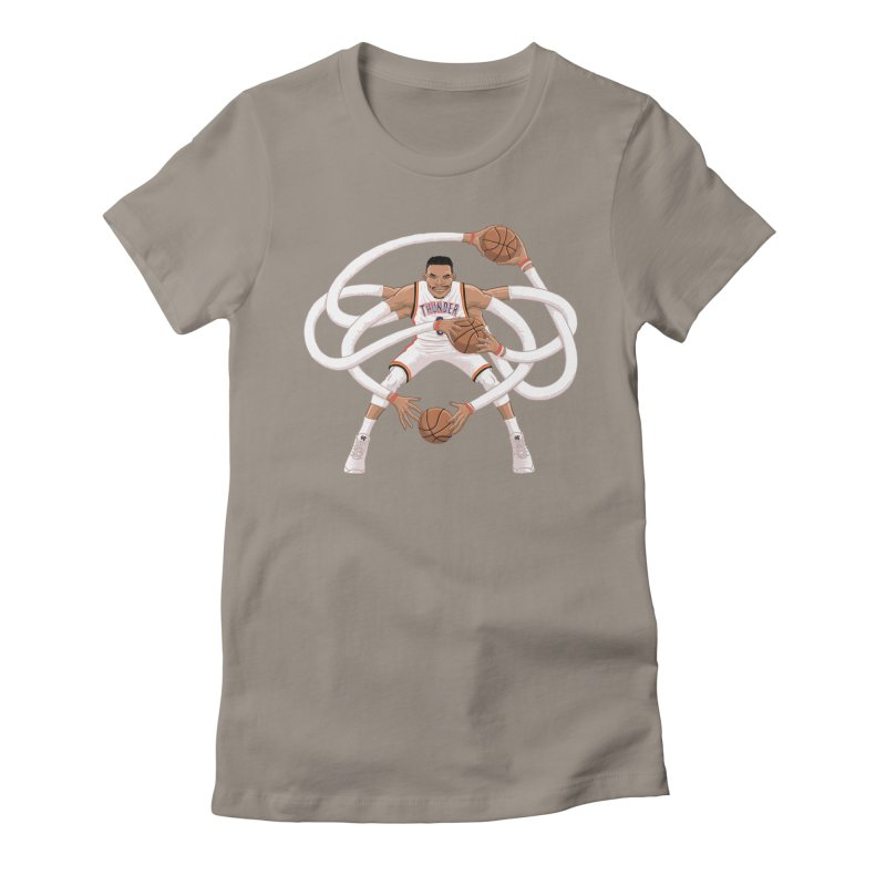 """Russell """"Mr. Triple Double"""" Westbrook - Home kit Women's Fitted T-Shirt by dukenny's Artist Shop"""