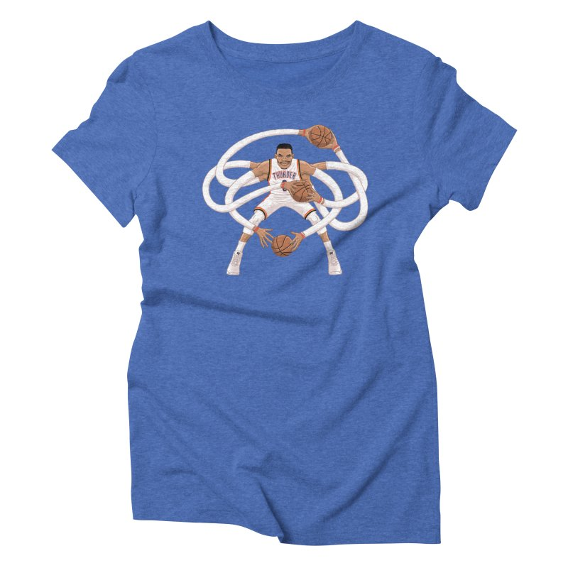 "Russell ""Mr. Triple Double"" Westbrook - Home kit Women's Triblend T-Shirt by dukenny's Artist Shop"