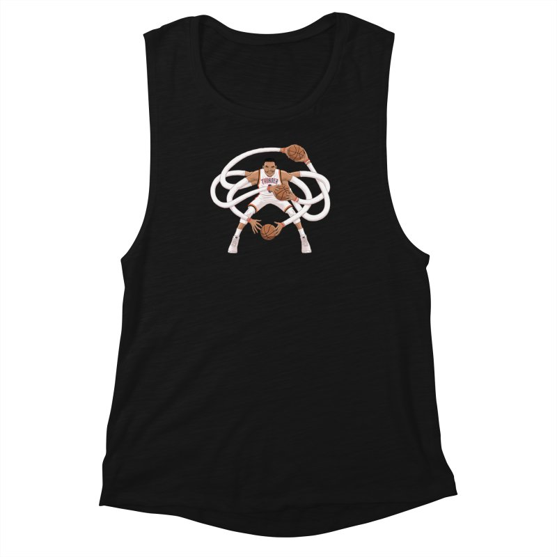 "Russell ""Mr. Triple Double"" Westbrook - Home kit Women's Muscle Tank by dukenny's Artist Shop"