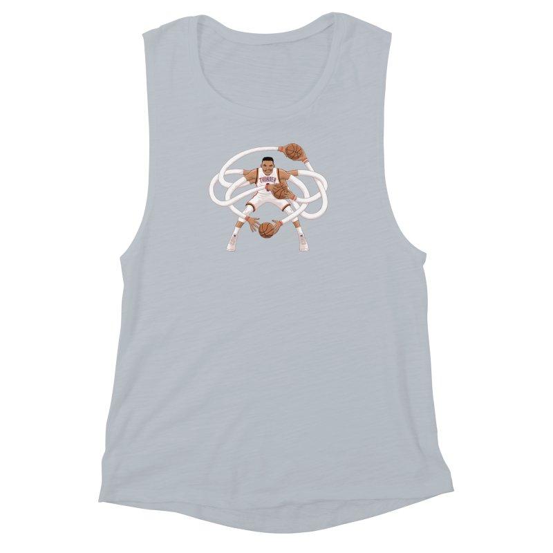 """Russell """"Mr. Triple Double"""" Westbrook - Home kit Women's Muscle Tank by dukenny's Artist Shop"""