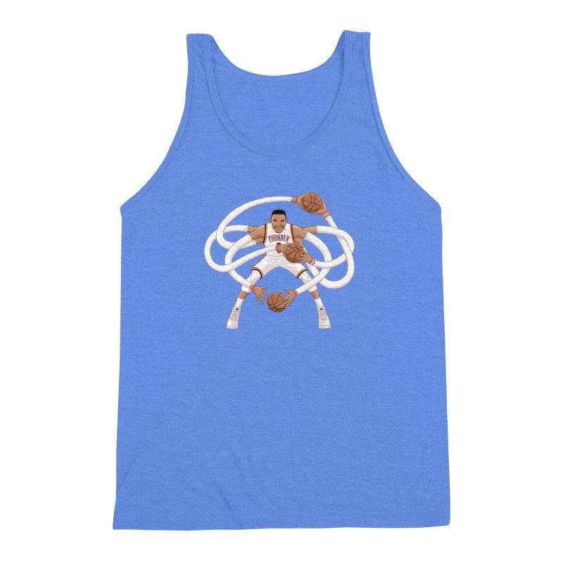 "Russell ""Mr. Triple Double"" Westbrook - Home kit Men's Triblend Tank by dukenny's Artist Shop"