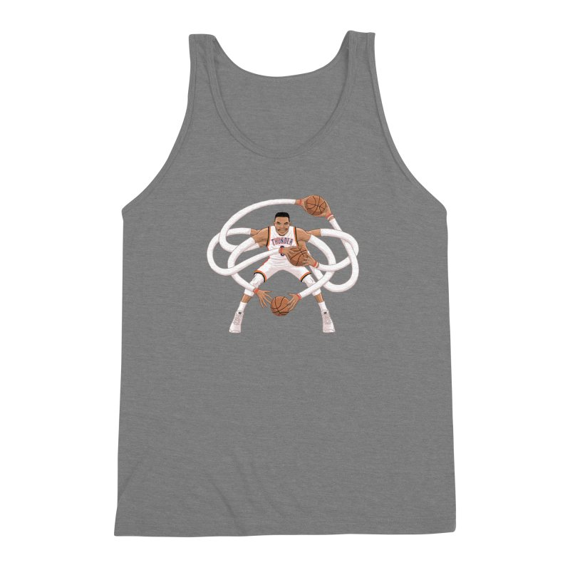 "Russell ""Mr. Triple Double"" Westbrook - Home kit Men's Triblend Tank by dukenny's Artist Shop"