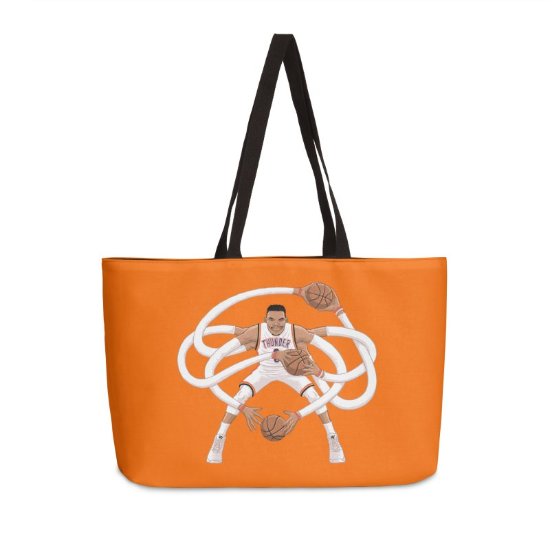 "Russell ""Mr. Triple Double"" Westbrook - Home kit Accessories Weekender Bag Bag by dukenny's Artist Shop"