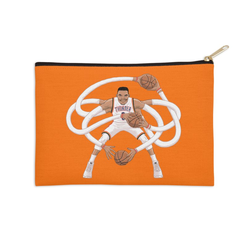 "Russell ""Mr. Triple Double"" Westbrook - Home kit Accessories Zip Pouch by dukenny's Artist Shop"
