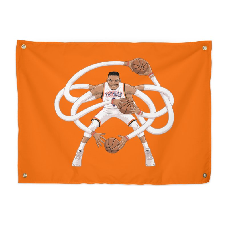 "Russell ""Mr. Triple Double"" Westbrook - Home kit Home Tapestry by dukenny's Artist Shop"