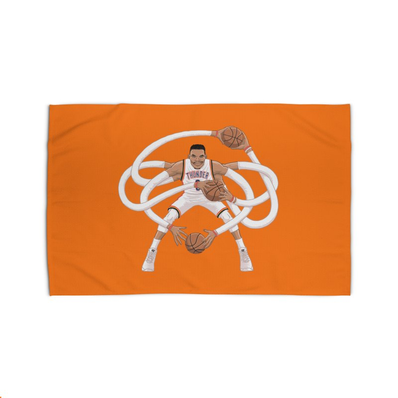 "Russell ""Mr. Triple Double"" Westbrook - Home kit Home Rug by dukenny's Artist Shop"