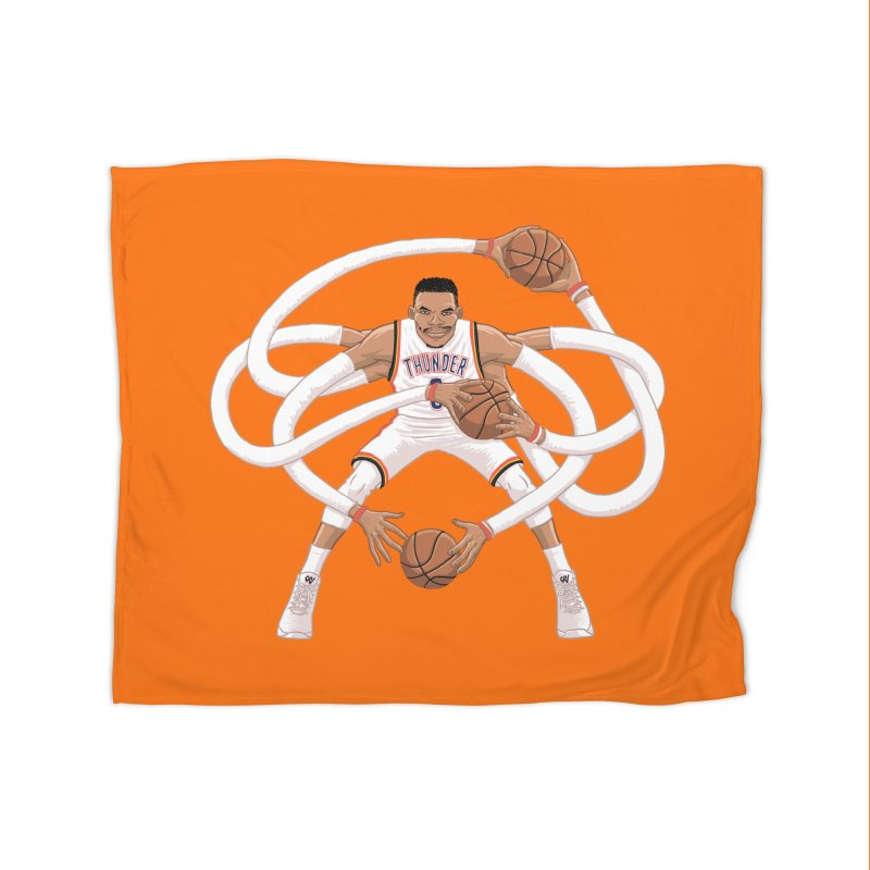 "Russell ""Mr. Triple Double"" Westbrook - Home kit Home Blanket by dukenny's Artist Shop"