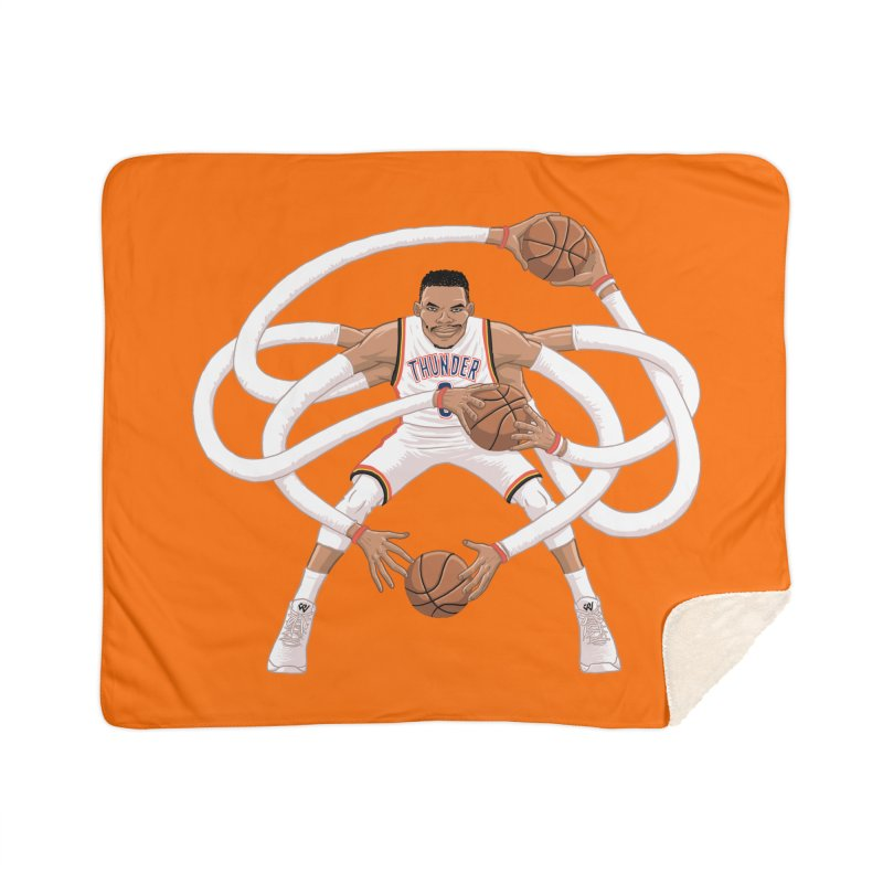 "Russell ""Mr. Triple Double"" Westbrook - Home kit Home Sherpa Blanket Blanket by dukenny's Artist Shop"