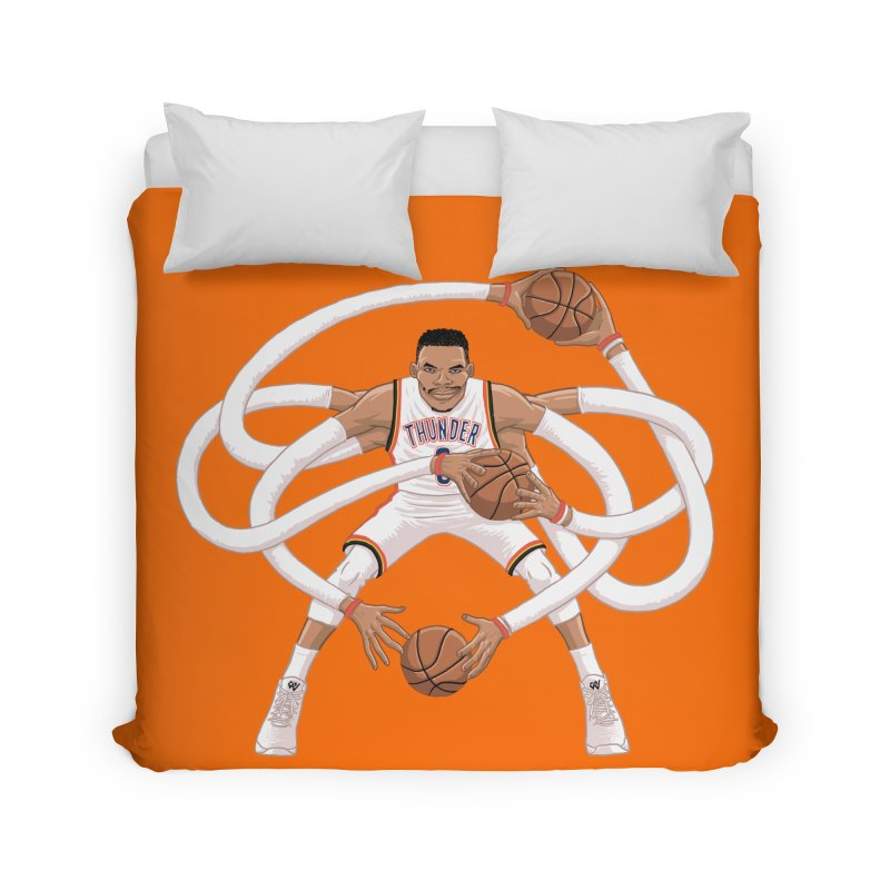 "Russell ""Mr. Triple Double"" Westbrook - Home kit Home Duvet by dukenny's Artist Shop"
