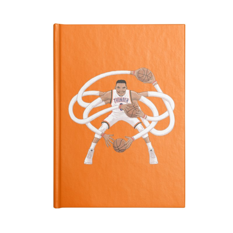 "Russell ""Mr. Triple Double"" Westbrook - Home kit Accessories Blank Journal Notebook by dukenny's Artist Shop"