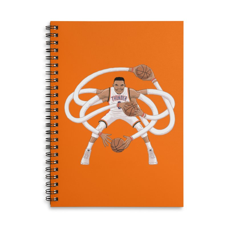 "Russell ""Mr. Triple Double"" Westbrook - Home kit Accessories Lined Spiral Notebook by dukenny's Artist Shop"