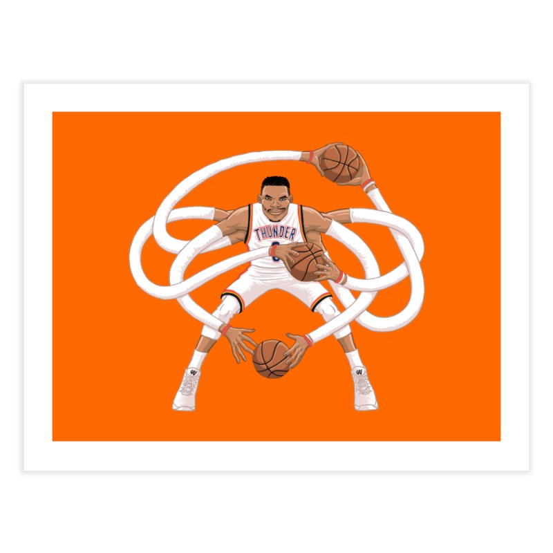 "Russell ""Mr. Triple Double"" Westbrook - Home kit Home Fine Art Print by dukenny's Artist Shop"