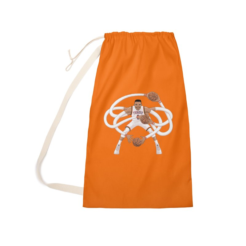 "Russell ""Mr. Triple Double"" Westbrook - Home kit Accessories Laundry Bag Bag by dukenny's Artist Shop"